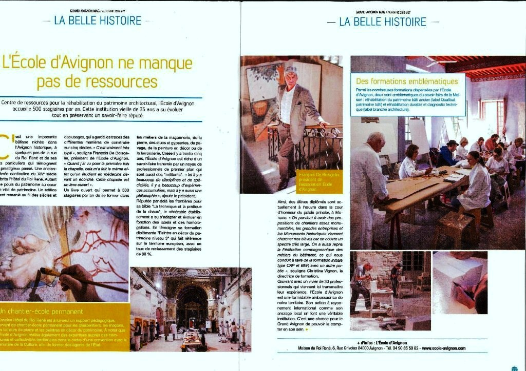 article de presse avignon mag actualit s article du vaucluse matin sur la formation. Black Bedroom Furniture Sets. Home Design Ideas