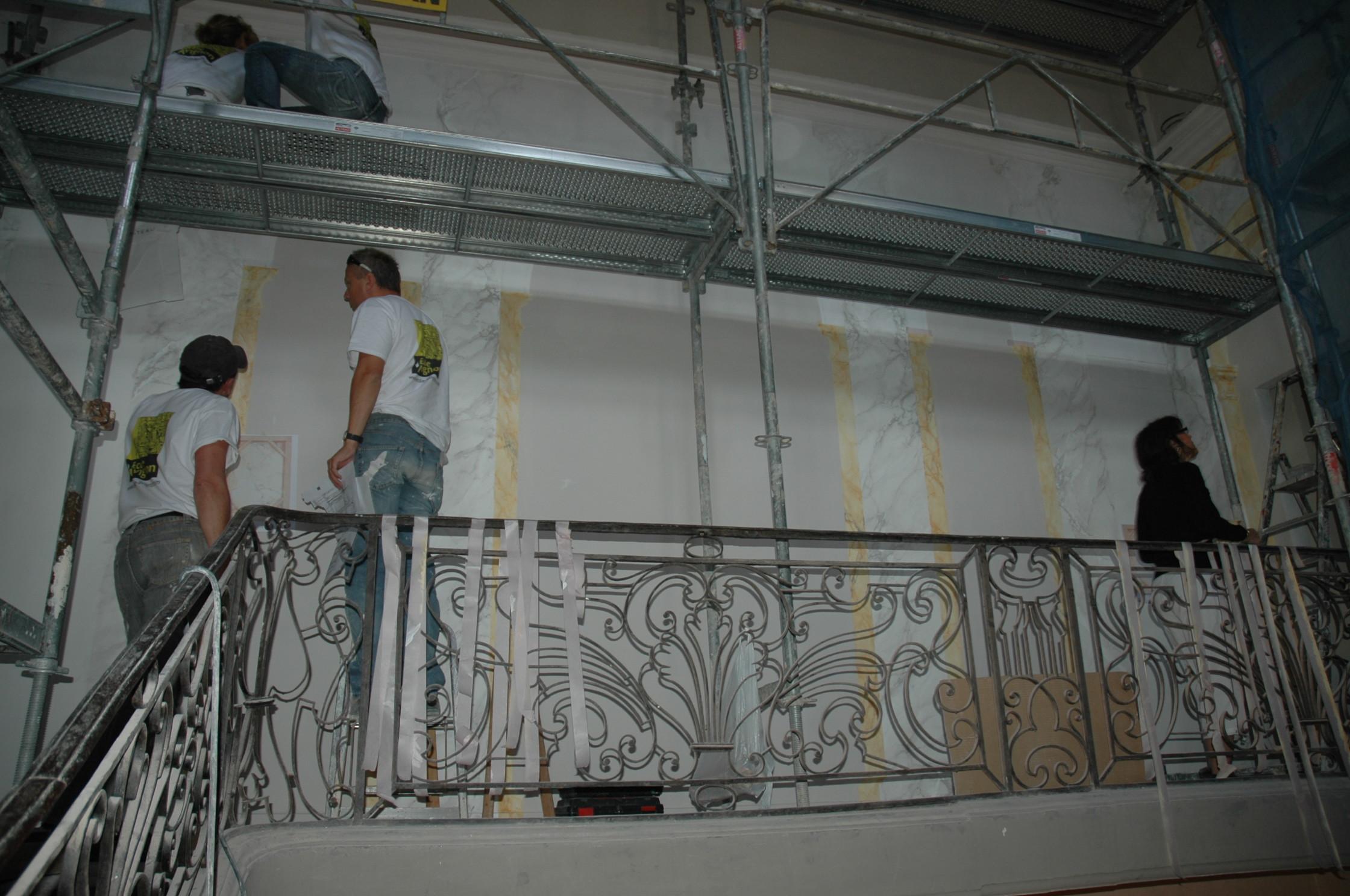 Chantier cole entretien des decors et des modenatures - Ecole de decoration avignon ...
