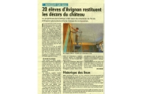 20 élèves d'Avignon restituent les décors du château